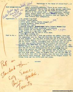 Hemingway's burger recipe
