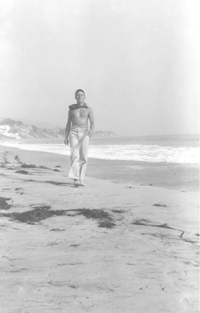 Tenesi Vilijams na plaži u Meksiku